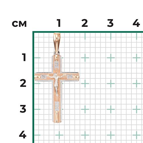 Подвеска-крест из красного золота