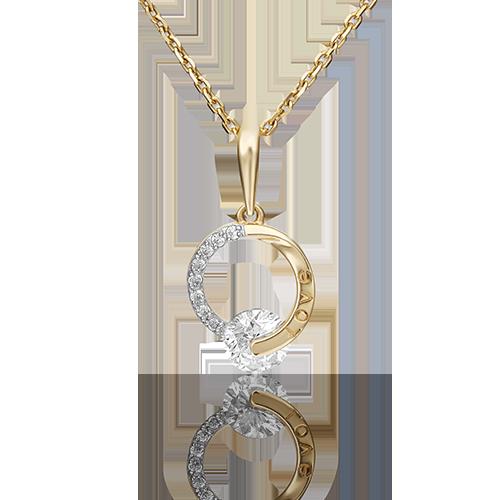 Подвеска из лимонного золота со вставками: Сваровски gems