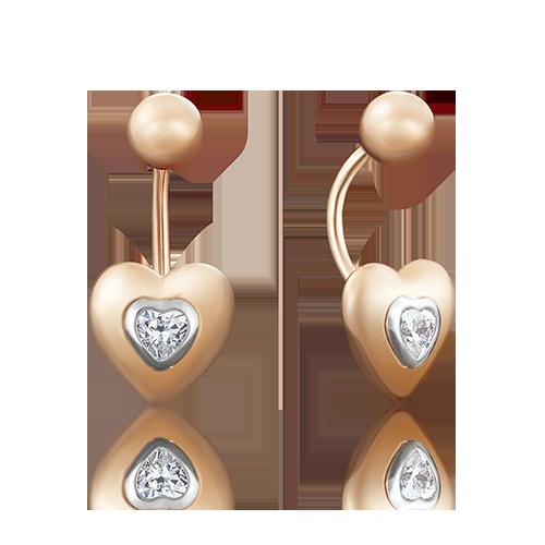 Пирсинг из красного золота со вставками: Сваровски gems 06-3320-00-501-1111-38 platina фото