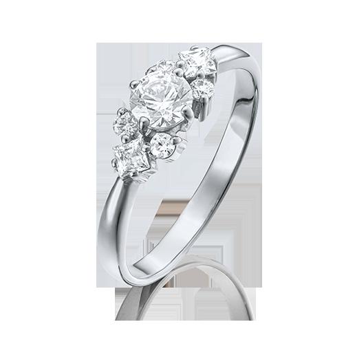 Кольцо из белого золота со вставками: Сваровски gems