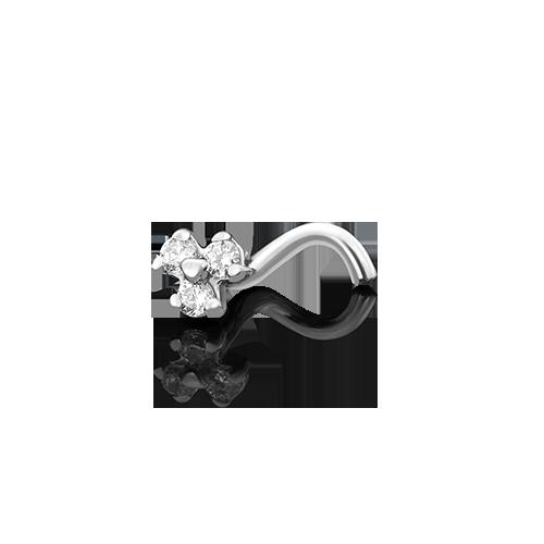 Пирсинг из белого золота 06-1481-00-401-1120-03 platina фото