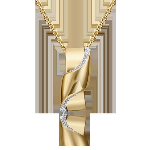 Подвеска из лимонного золота