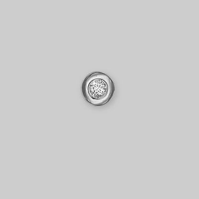 Подвеска из белого золота со вставками: Сваровски gems