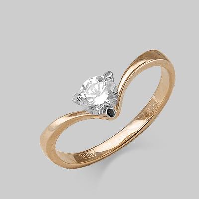 Кольцо из красного золота со вставками: Сваровски gems