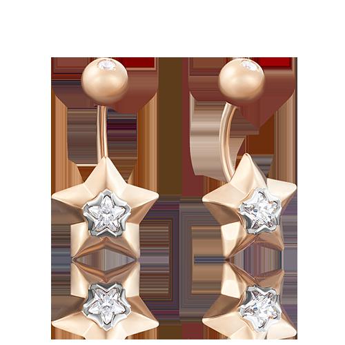 Пирсинг из красного золота со вставками: Сваровски gems 06-3319-00-501-1111-38 platina фото