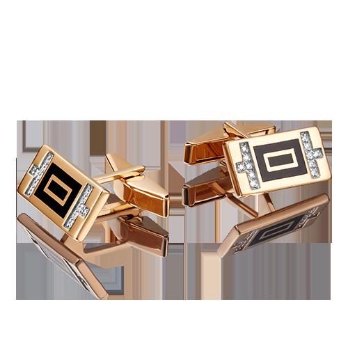 Запонки из красного золота 10-0046-00-401-1110-25 platina фото