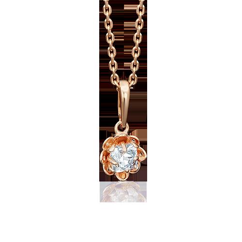 Подвеска из красного золота со вставками: Сваровски gems
