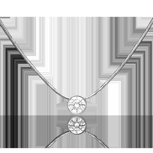 Колье из белого золота со вставками: Сваровски gems